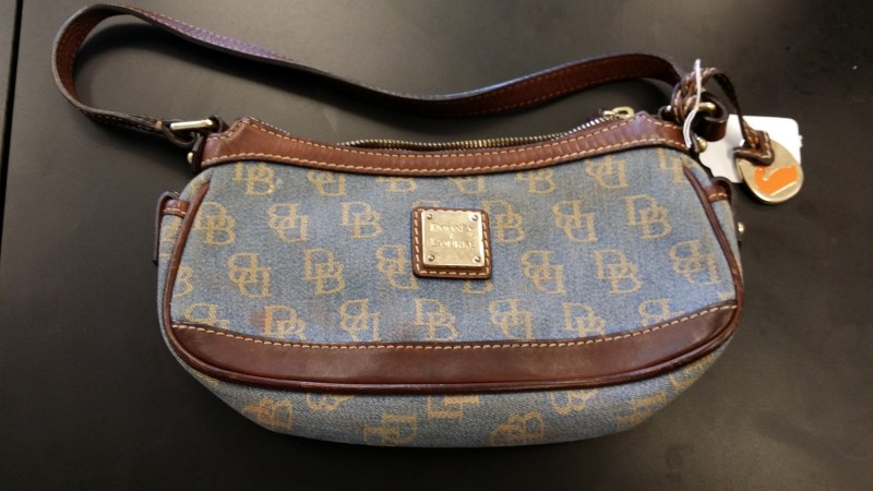DOONEY & BOURKE Handbag MONOGRAM CANVAS WRISTLET