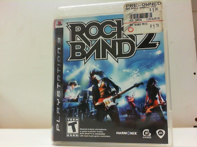 SONY Sony PlayStation 3 Game ROCK BAND 2 PS3