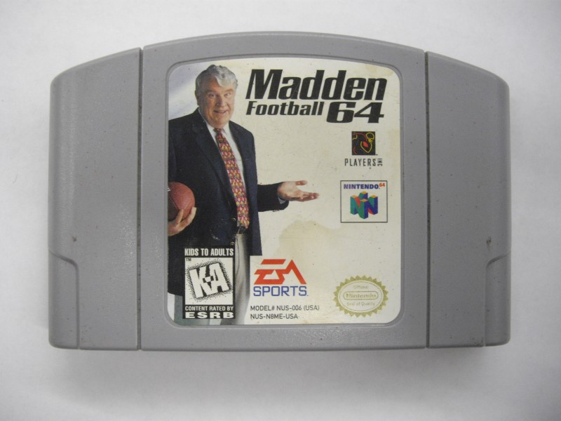 NINTENDO 64 Game MADDEN FOOTBALL 64 *CARTRIDGE ONLY*