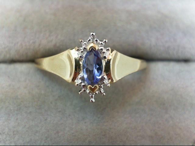 Tanzanite Lady's Stone Ring 10K Yellow Gold 1.9g