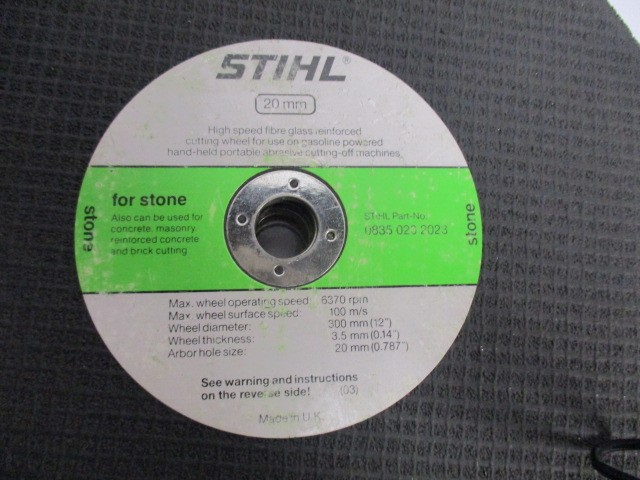 "STIHL 12"" CUT OFF WHEEL FOR STONE (LOT OF 8)"