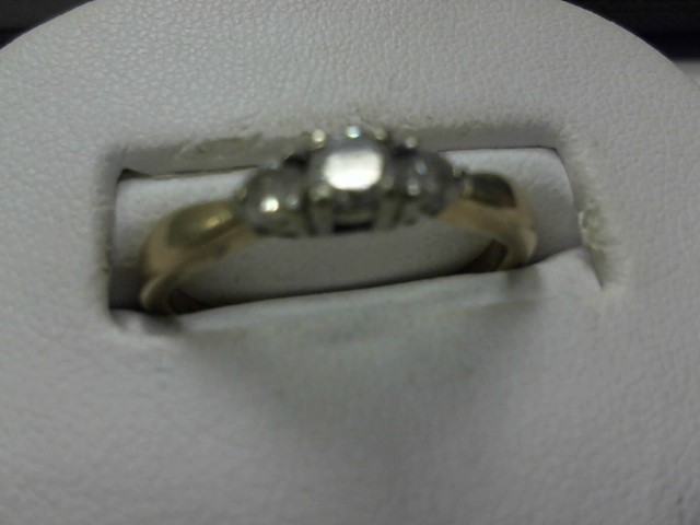 Lady's Diamond Engagement Ring 3 Diamonds .40 Carat T.W. 14K Yellow Gold 2.2dwt