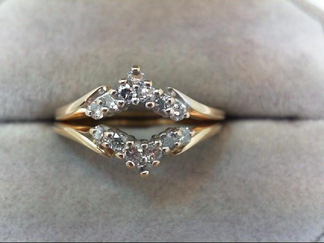 Lady's Gold-Diamond Ring Guard 14 Diamonds .28 Carat T.W. 14K Yellow Gold 3.8g