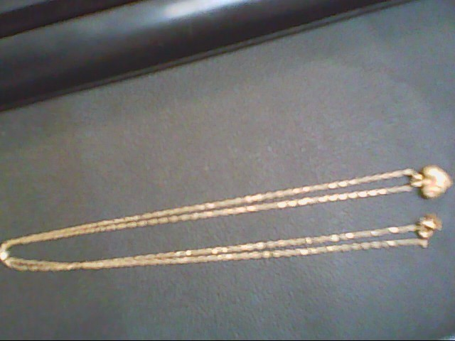 "18"" Gold Fine Chain 14K Yellow Gold 2.1g"