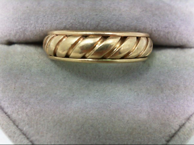 Gent's Gold Wedding Band 14K Yellow Gold 7.4g Size:9