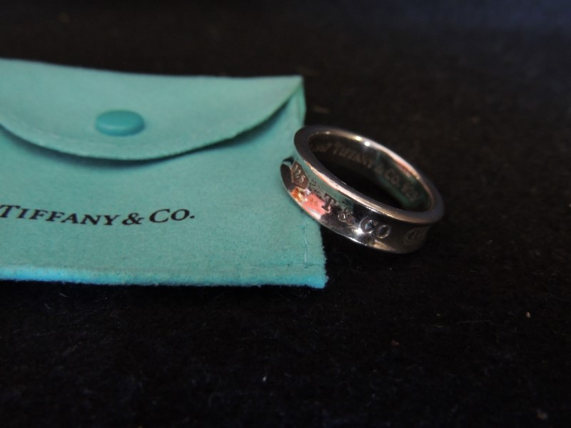 TIFFANY & CO Silver Bullion 1837 BAND 925 size 12