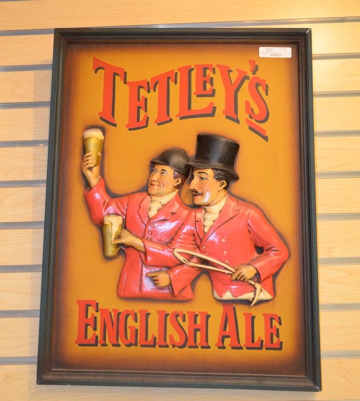 TETLEYS ENGLISH ALE FRAMED SIGN