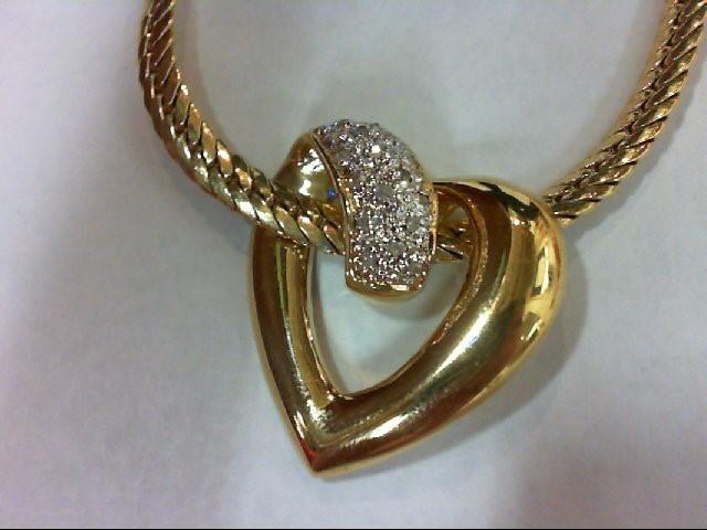 Silver-Diamond Pendant 18 Diamonds 0.18 Carat T.W. 925 Silver 20.5g