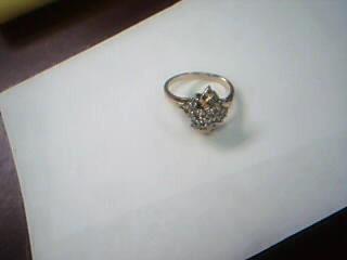 Lady's Diamond Cluster Ring 22 Diamonds .44 Carat T.W. 14K Yellow Gold 6.1g