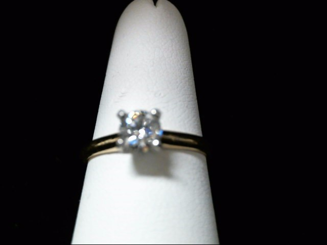 Lady's Diamond Solitaire Ring .48 CT. 14K Yellow Gold 2.5g