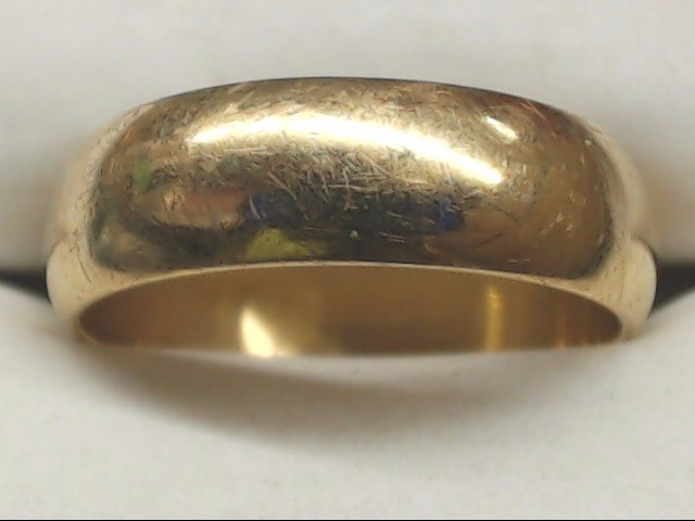 Lady's Gold Wedding Band 10K Yellow Gold 4.6g Size:8