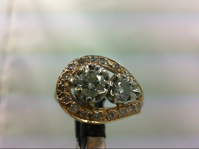 Lady's Diamond Cluster Ring 20 Diamonds .80 Carat T.W. 14K Yellow Gold 4.25g
