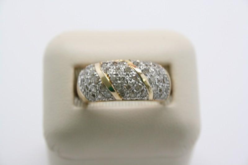 FASHION STYLE LADY'S DIAMOND RING 14KL YELLOW GOLD
