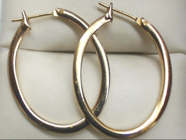 Gold Hoop Earrings 14K Yellow Gold 2.6g