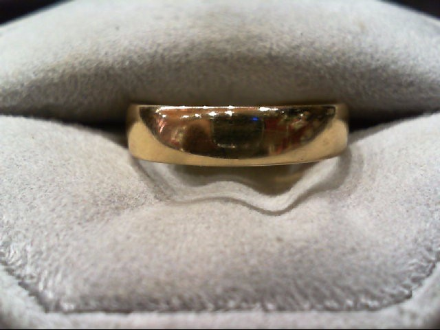 Gent's Gold Wedding Band 14K Yellow Gold 3g Size:8.5