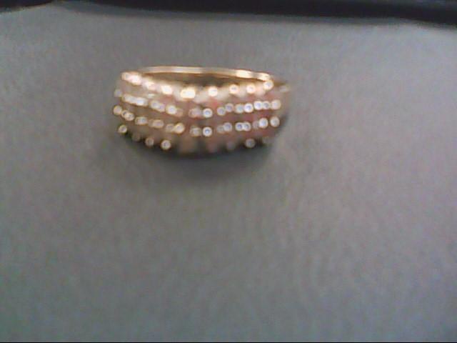 Lady's Gold-Diamond Anniversary Ring 27 Diamonds .81 Carat T.W. 14K Yellow Gold