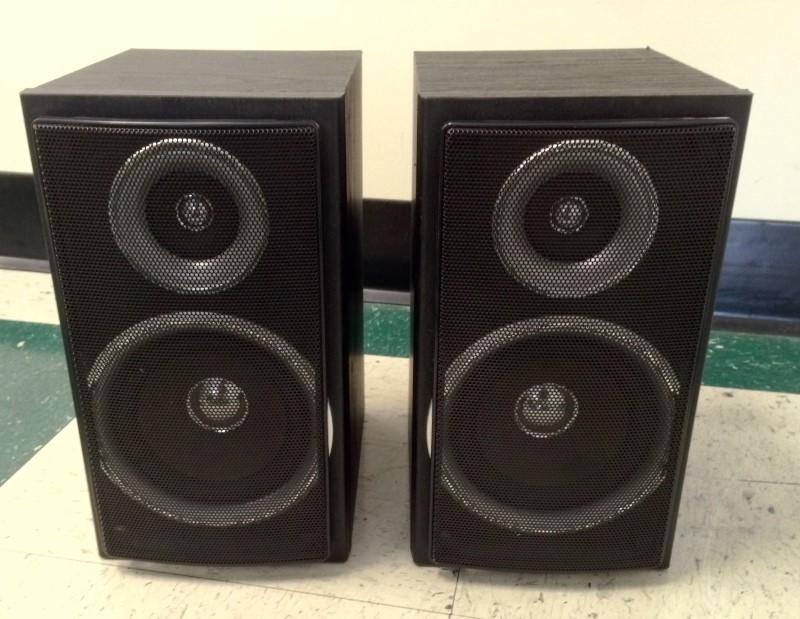 1 PR. SHARP SPEAKER MODEL CP-DK255 2-WAY BOOKSHELF SPEAKERS