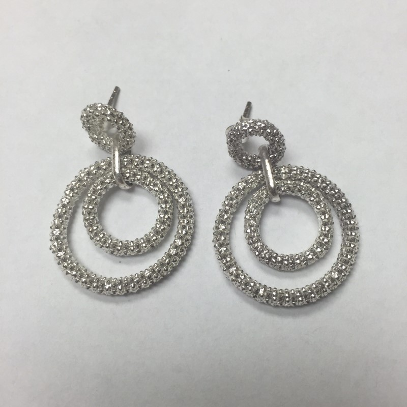 Sterling Silver Hoop Earrings 925 5.5dwt