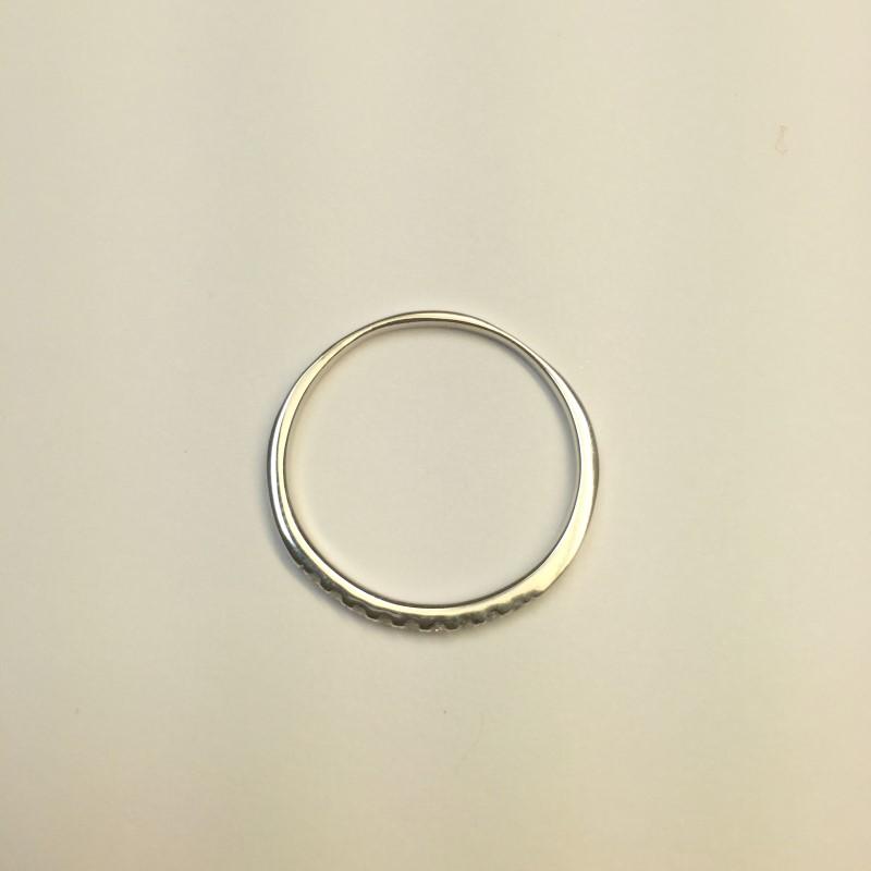 Lady's Gold-Diamond Anniversary Ring 9 Diamonds .27 Carat T.W. 18K White Gold
