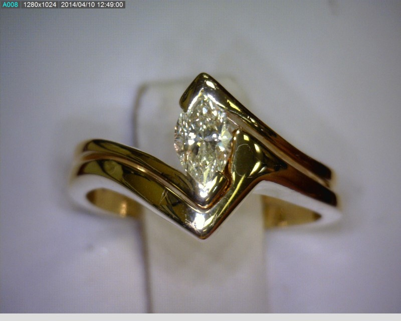 Lady's Diamond Wedding Set .21 CT. 14K Yellow Gold 2.7dwt Size:4.5