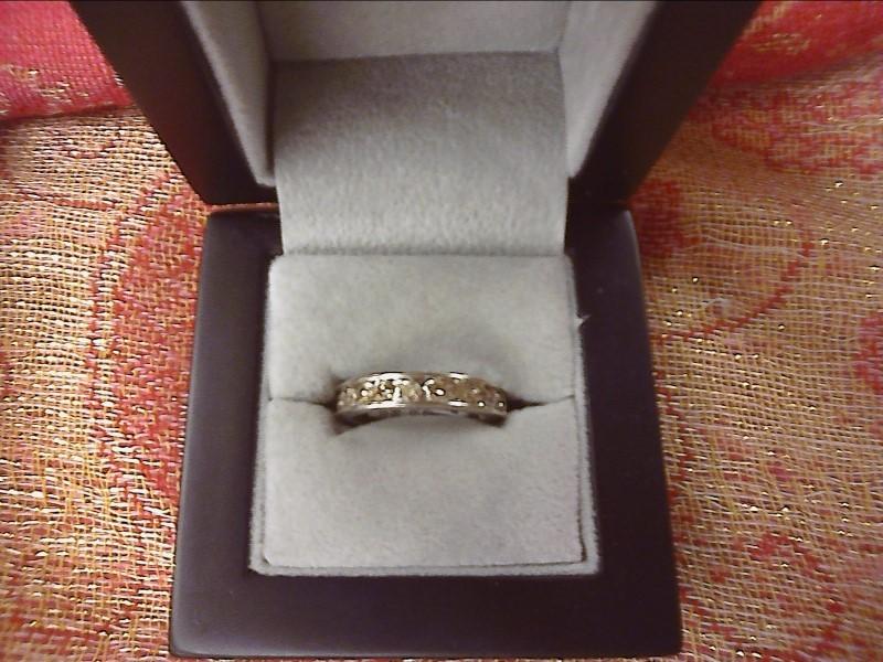 Lady's Gold-Diamond Anniversary Ring 12 Diamonds 1.08 Carat T.W. 10K White Gold