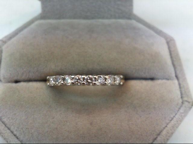 Lady's Diamond Wedding Band 8 Diamonds .48 Carat T.W. 10K Yellow Gold 3.6g