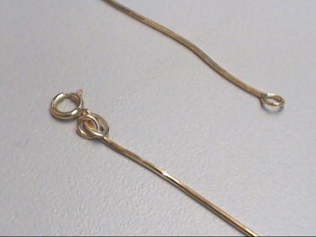 "18"" Gold Snake Chain 18K Yellow Gold 2.6g"