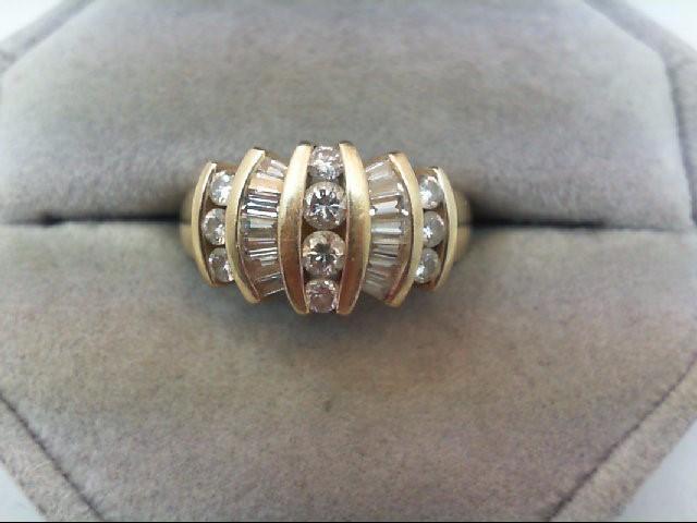 Lady's Diamond Cluster Ring 24 Diamonds 1.12 Carat T.W. 14K Yellow Gold 5.4g