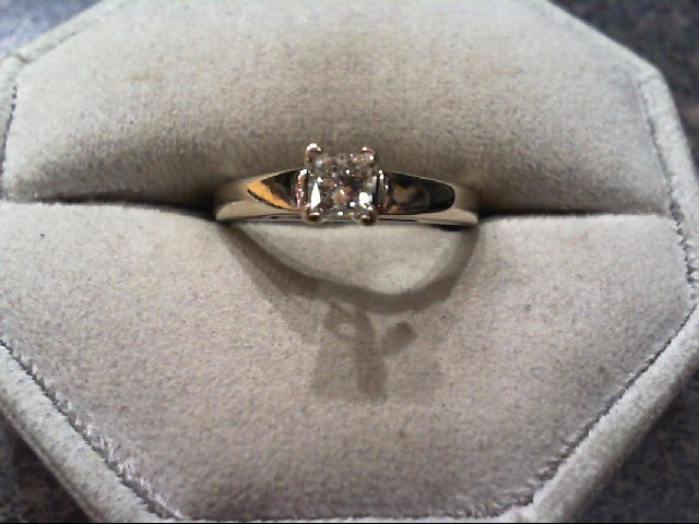 Lady's Diamond Engagement Ring .33 CT. 14K White Gold 3.4g