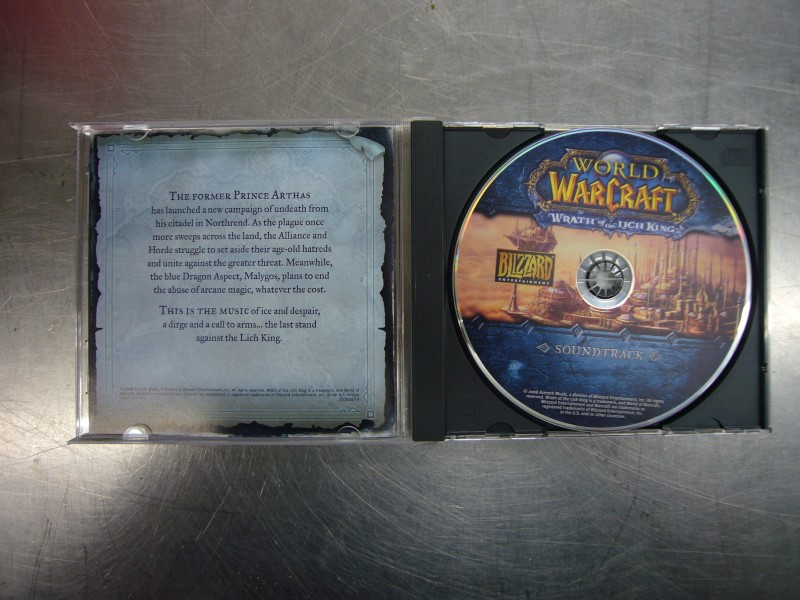 BLIZZARD PC WORLD OF WARCRAFT WRATH OF THE LICH KING COLLECTORS *CODES UNUSED