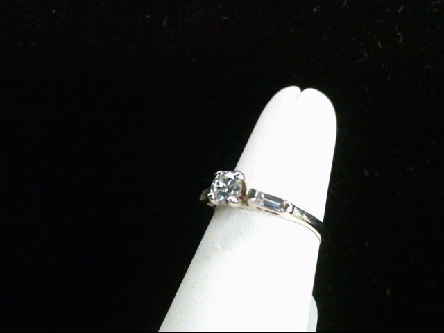 Lady's Diamond Engagement Ring 3 Diamonds .52 Carat T.W. 14K Yellow Gold 2.7g