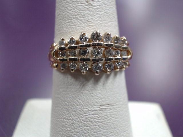 LADIES Diamond Cluster Ring 21 Diamonds .21 Carat T.W. 14K Yellow Gold 3.64g