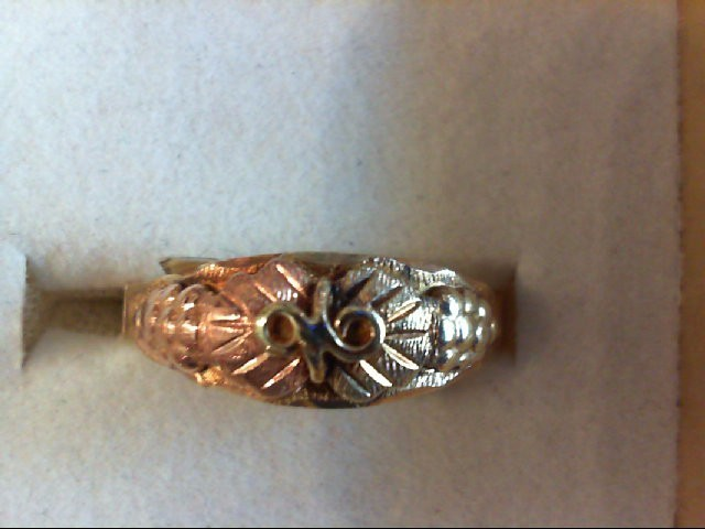 Lady's Gold Ring 10K 2 Tone Gold 2.1g