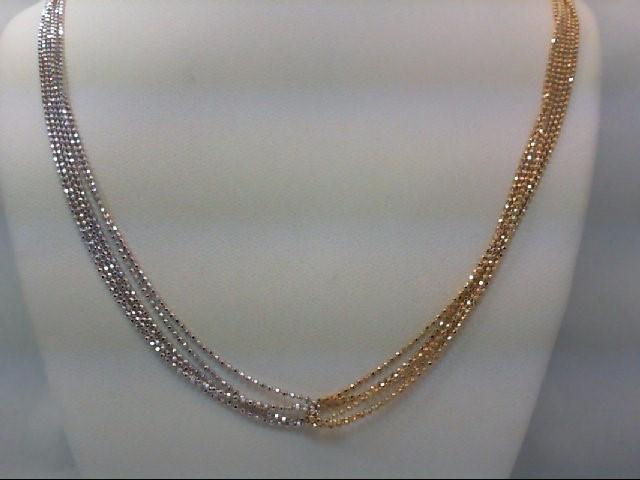 """19"""" Gold Fashion Chain 14K 2 Tone Gold 9.2g"""
