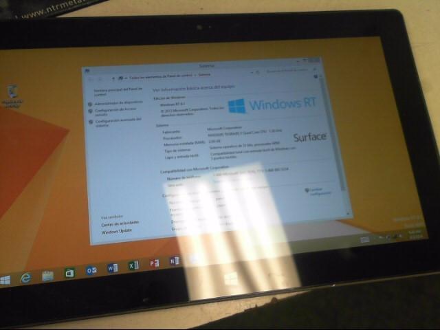 MICROSOFT Tablet WINDOWS RT