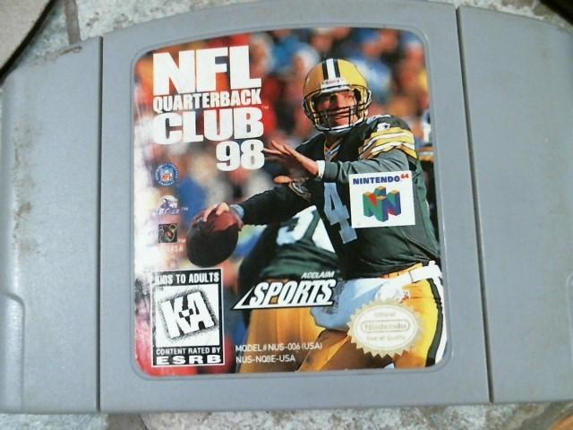 NINTENDO Nintendo 64 Game NFL QUARTERBACK CLUB 98