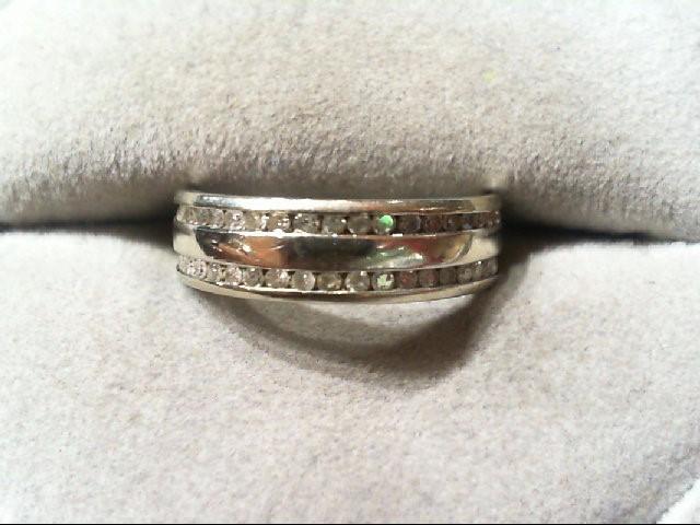Lady's Diamond Wedding Band 36 Diamonds .180 Carat T.W. 14K White Gold 3g
