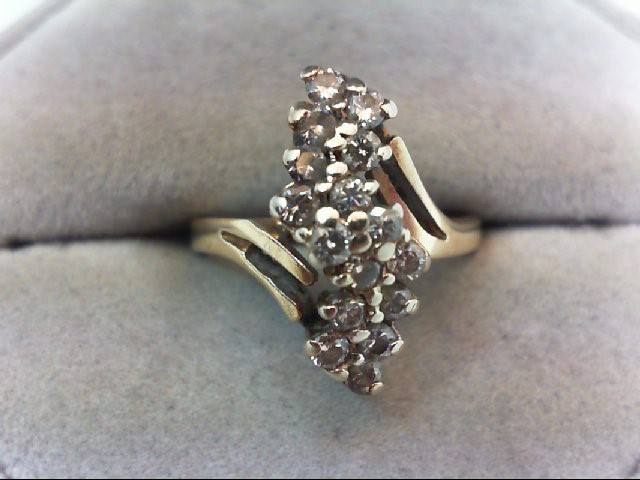 Lady's Diamond Cluster Ring 16 Diamonds .64 Carat T.W. 14K Yellow Gold 4.4g