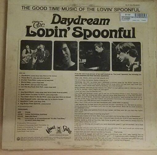 Daydream The Lovin' Spoonful Vinyl