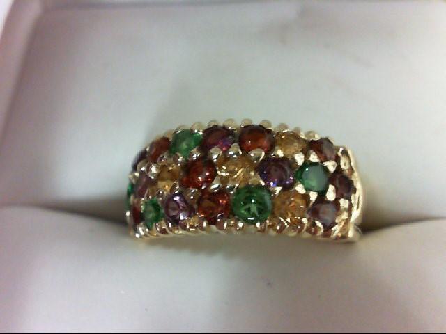 Almandite Garnet Lady's Stone Ring 14K Yellow Gold 3.8g