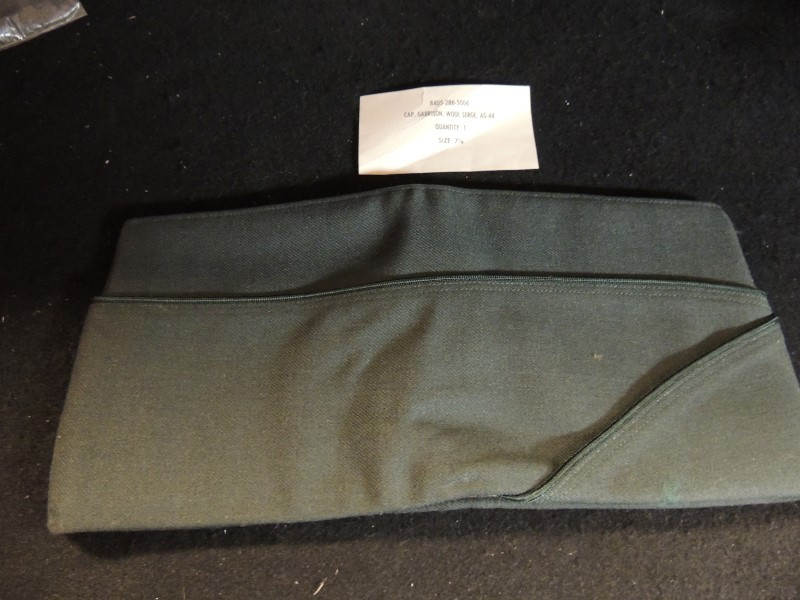 US Military Army Dress Green Garrison Cap 100% Wool Serge AG44 No. 8405-286-5006