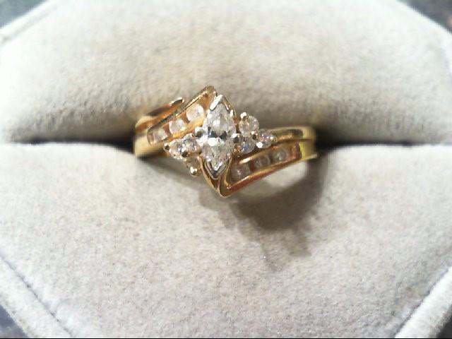 Lady's Diamond Wedding Set 13 Diamonds .43 Carat T.W. 14K Yellow Gold 4g