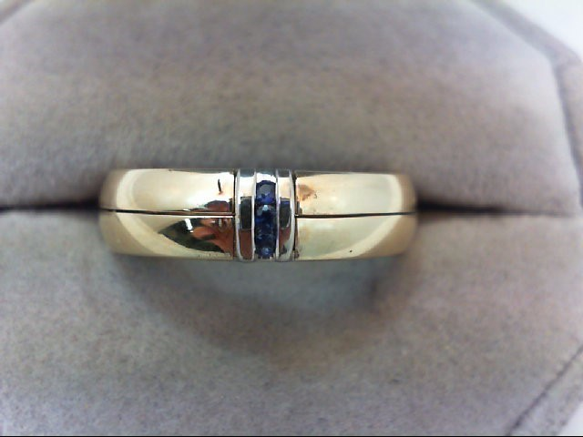 Sapphire Lady's Stone Ring 14K 2 Tone Gold 8.4g