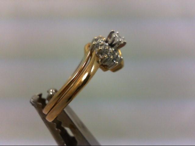 Lady's Diamond Wedding Set 19 Diamonds .28 Carat T.W. 10K Yellow Gold 4.1g