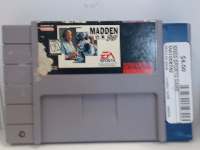 NINTENDO SNES MADDEN 96 *CARTRIDGE ONLY*