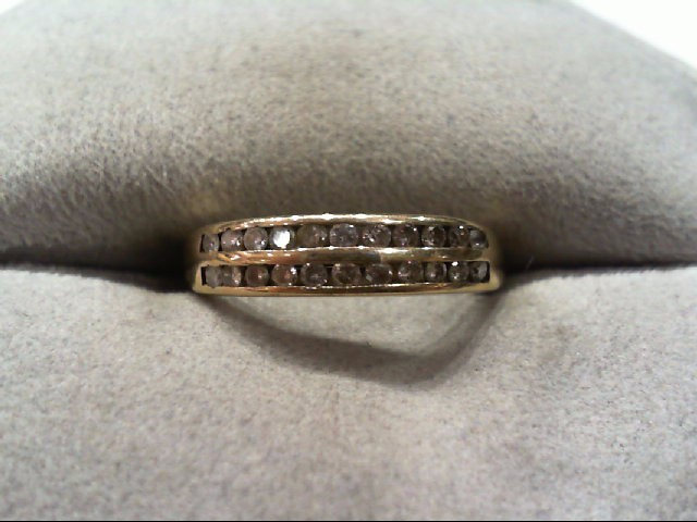 Lady's Diamond Wedding Band 22 Diamonds .22 Carat T.W. 10K Yellow Gold 1.6g