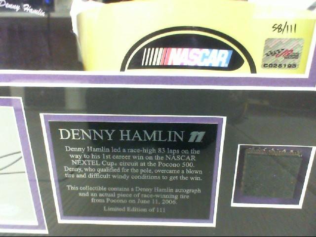 DENNY HAMLIN AUTOGRAPH 58 OF 111