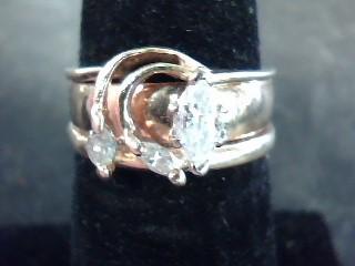 Lady's Diamond Solitaire Ring 3 Diamonds .45 Carat T.W. 14K Yellow Gold 2.8dwt