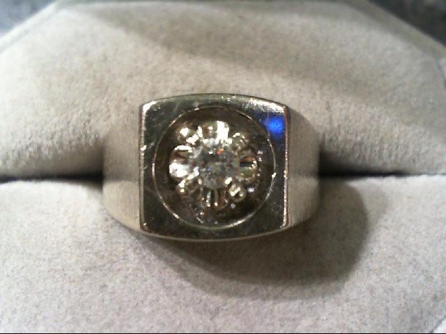 Gent's Gold-Diamond fashion ring .20 CT. 14K White Gold 7.2g