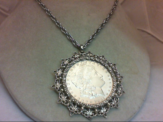"""24"""" Necklace/Pendant Silver Stainless 56.5g"""